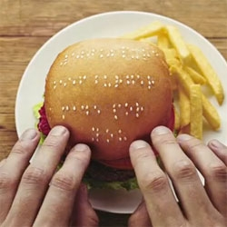 Wimpy burger, braille, PR stunt