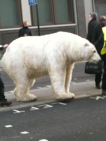 Greenpeace Polar Bear spotted in London