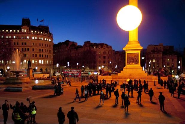 Tropicana Trafalgar Square, London PR stunt