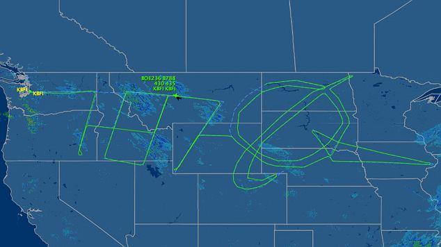Boeing skywrite 787 dreamliner
