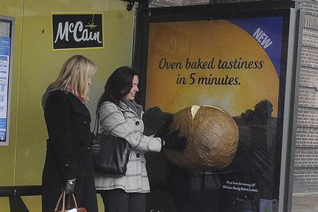 McCain Jacket Potato bus stop ad