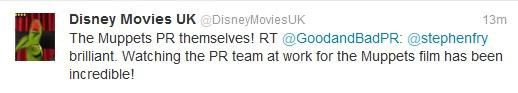 The Muppets Movie tweet