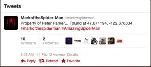 'The Amazing Spiderman' creates scavenger hunt via Twitter