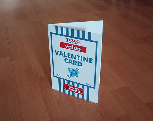 Tesco Valentine's Day Card cheap