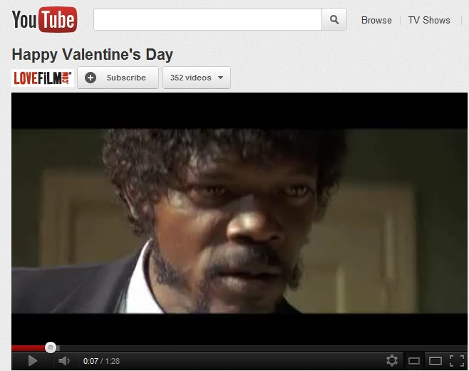 lovefilm Valentine's Day video
