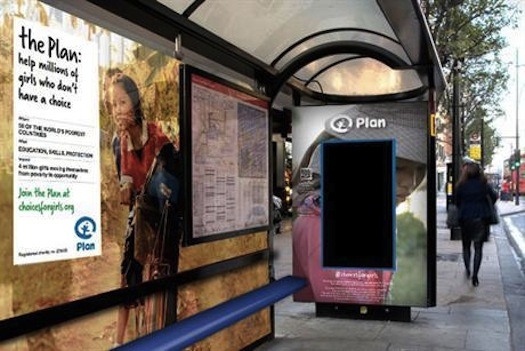 Plan UK ad bus stop CURB