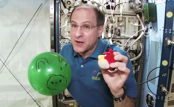 NASA Don Pettit Angry Birds Space PR stunt