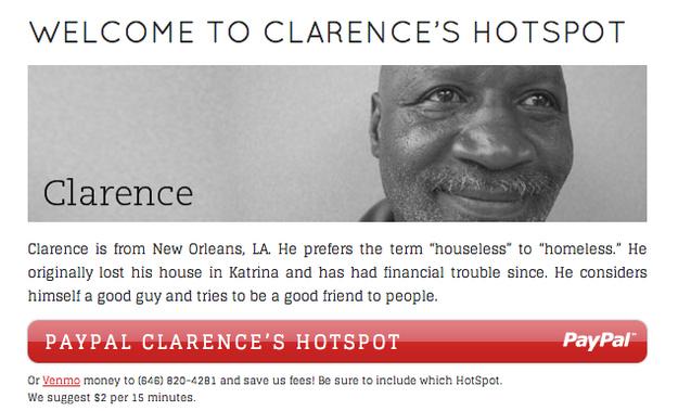Homeless Hotspot BBH Clarence SXSW