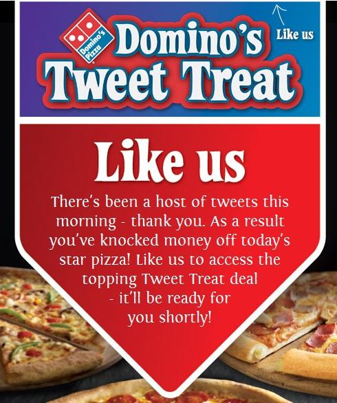 Domino's 5th March Tweet Treats social media campaign