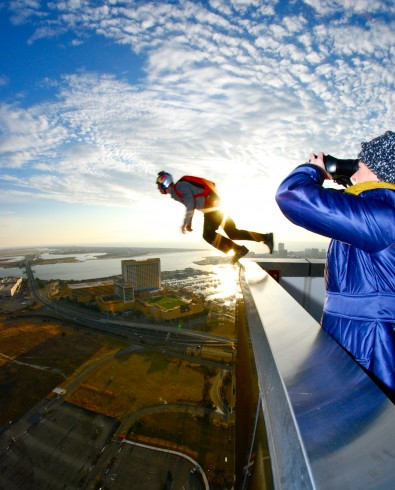 Red Bull base jump Leap Day