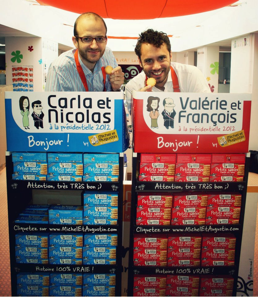 French food company Michel et Augustin using political candidate cartoons on their products: Publicity stunt success?