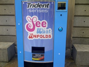 Trident set up product dispensing machine in central London