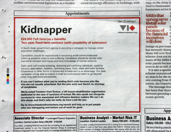 Wannabe kidnappers, abusers and torturers asked to apply in ...