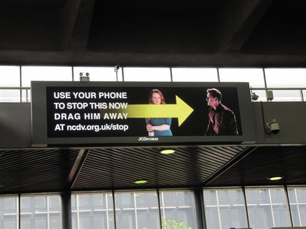 """""""Drag Him Away"""" – Domestic violence campaign launches at Euston Station"""