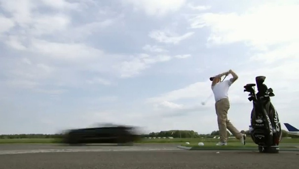 David Coulthard catches 178mph golf ball in open top car, breaks world record