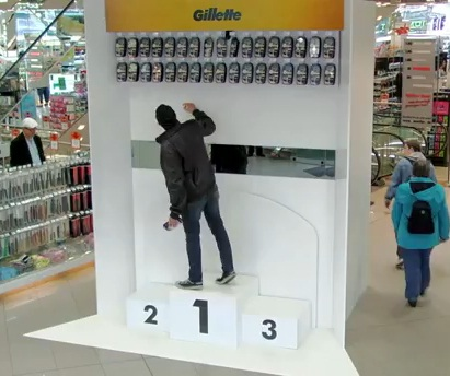 German shoppers surprised by Gillette Olympic stunt