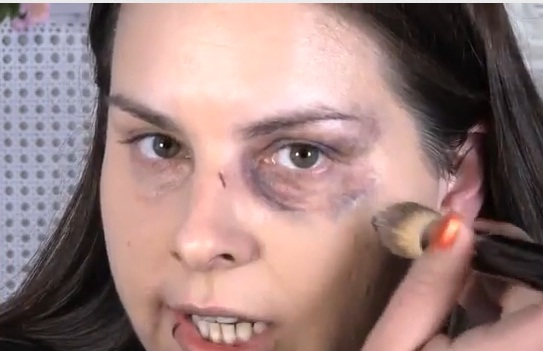 Hard-hitting make up tutorial hides signs of domestic violence
