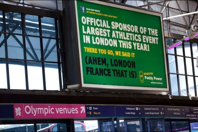 Paddy Power take LOCOG to court to prevent removal of cheeky ads