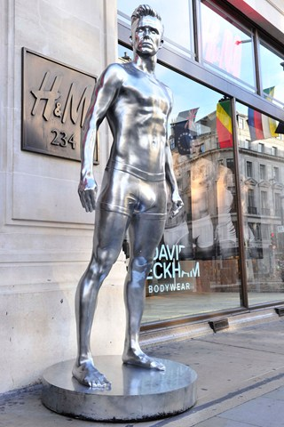 H&M create 10ft statues of underwear-clad Beckham