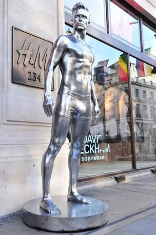 H&M create 10ft statues of underwear-clad Beckham