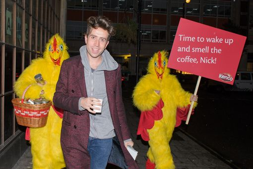 Kenco take advantage of Nick Grimshaw's first day as Radio 1 breakfast presenter