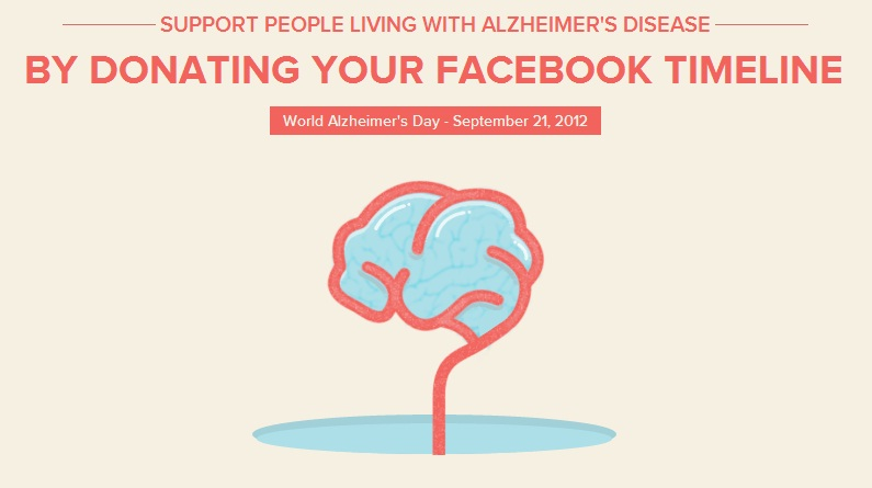 App erased Facebook timeline for 24 hours on World Alzheimer's Day