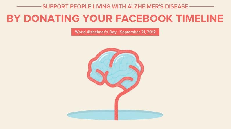 App erased Facebook timeline for 24 hours on World Alzheimer's Day