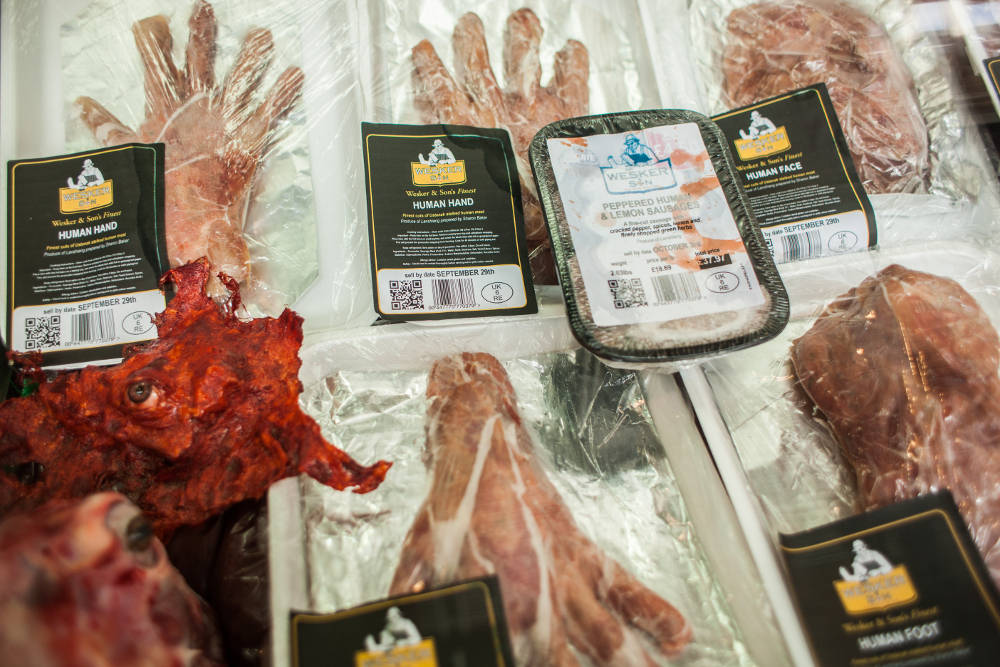 Edible human limbs – and heads – go on sale at pop-up butchery in gruesome Resident Evil PR stunt