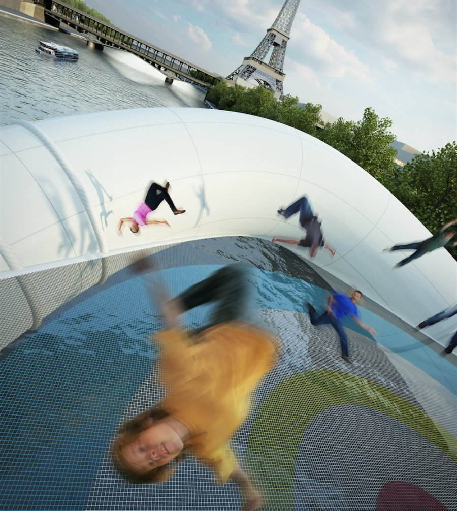 Trampoline Bridge proposed in Paris