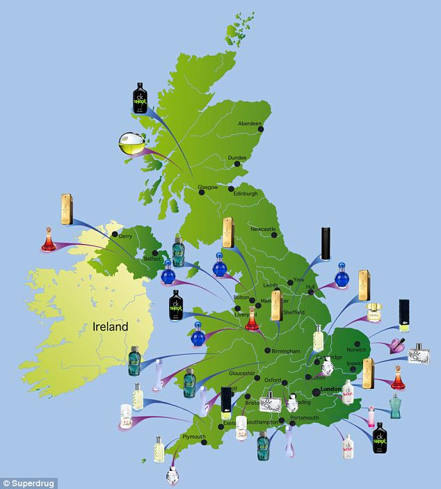 Fragrance Map of UK