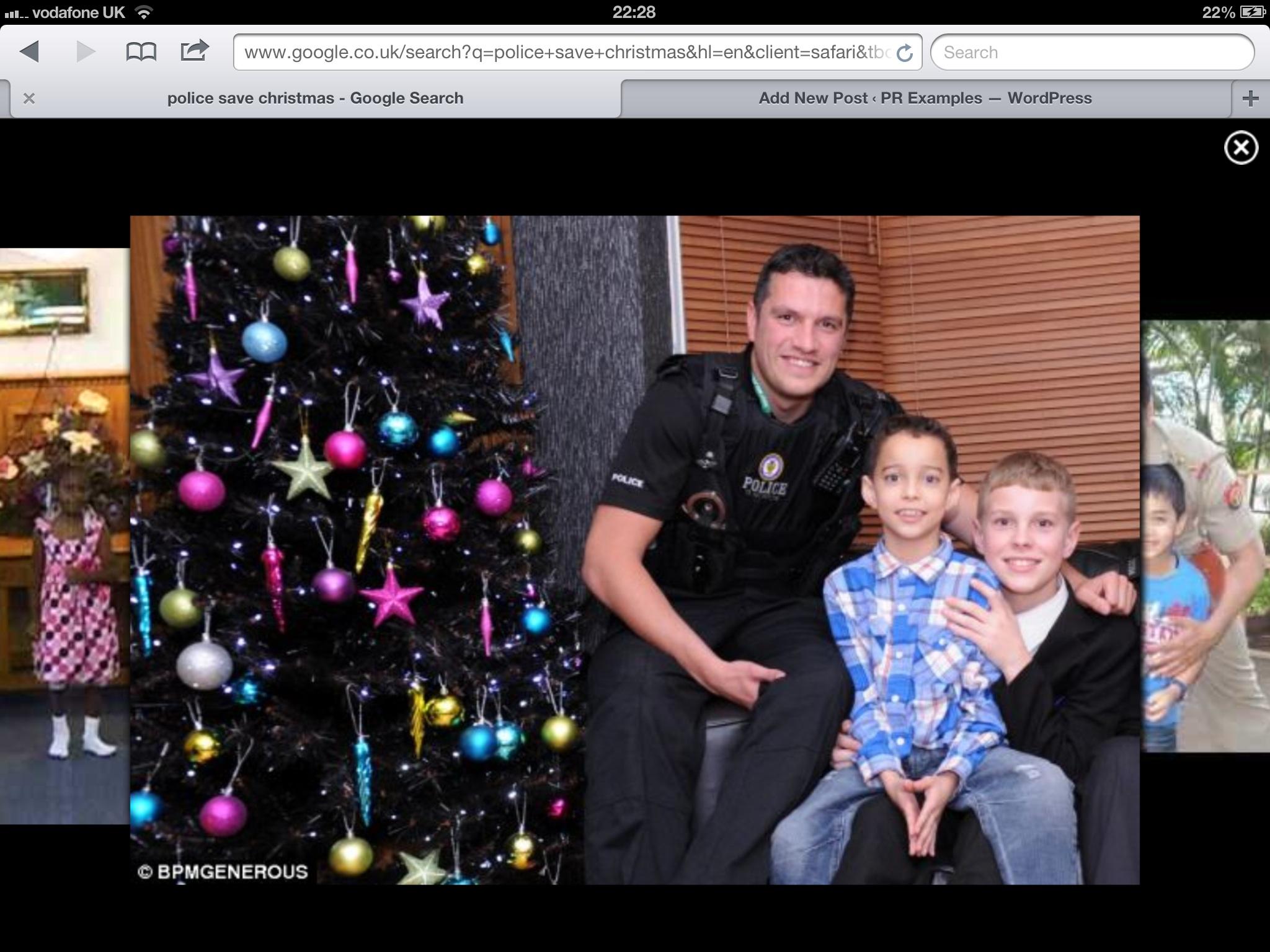 Police Play Santa Claus