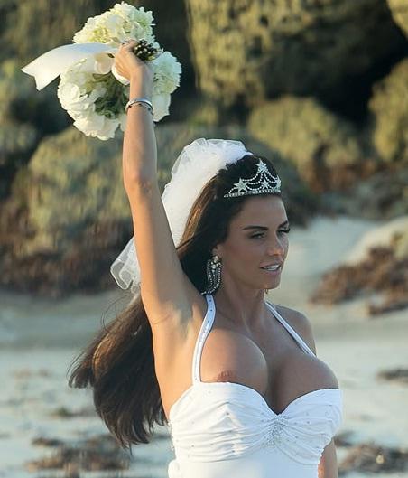 Katie Price Boob Wedding Sandals Resort Response