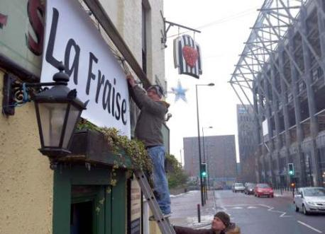'The Strawberry' pub renamed 'La Fraise' to welcome incoming Newcastle United French signings