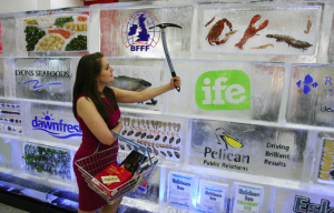Pelican PR builds wall of ice for BFFF