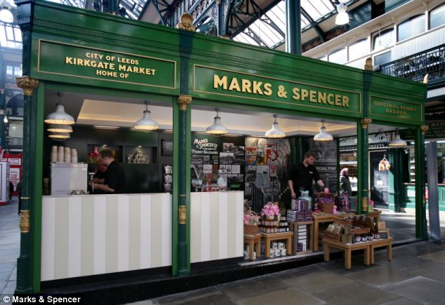 marks and spencer stall