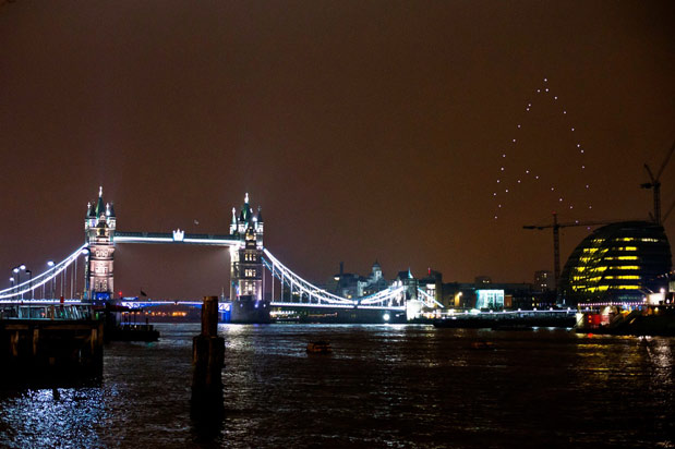 Giant Star Trek logo lights up London skyline in partnership with Earth Hour