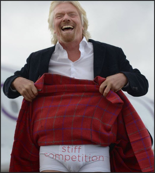 Little red virgin atlantic richard branson