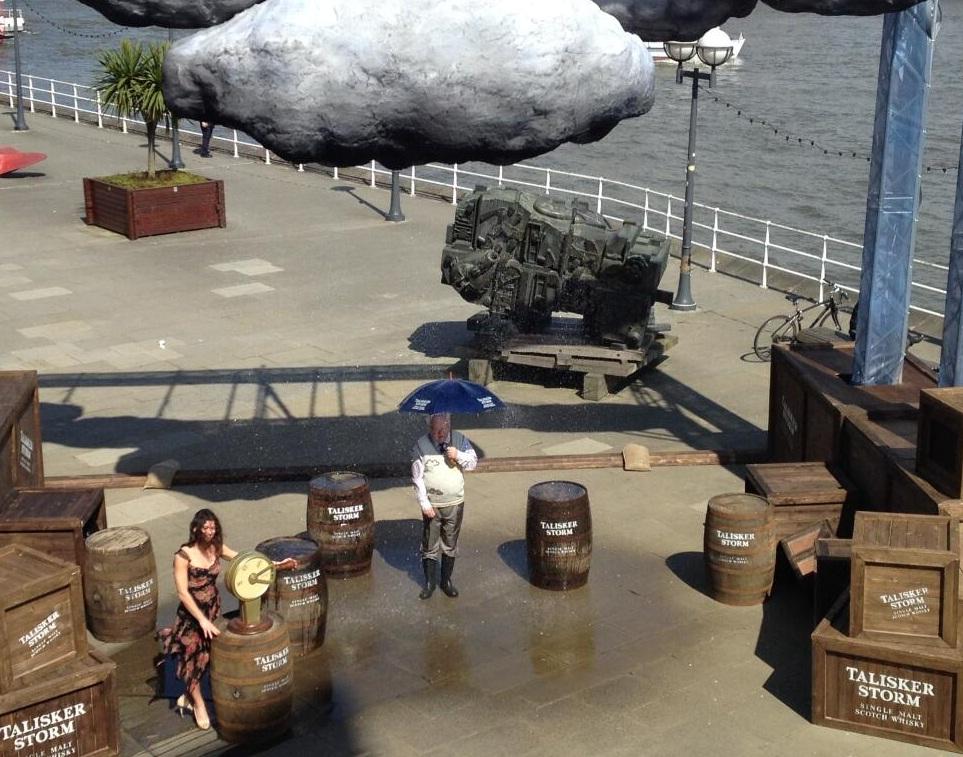 michael fish talisker storm pr stunt