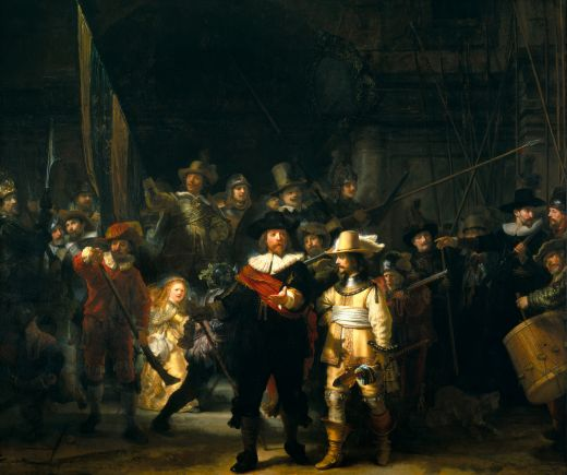 rembrandt night watch pr stunt