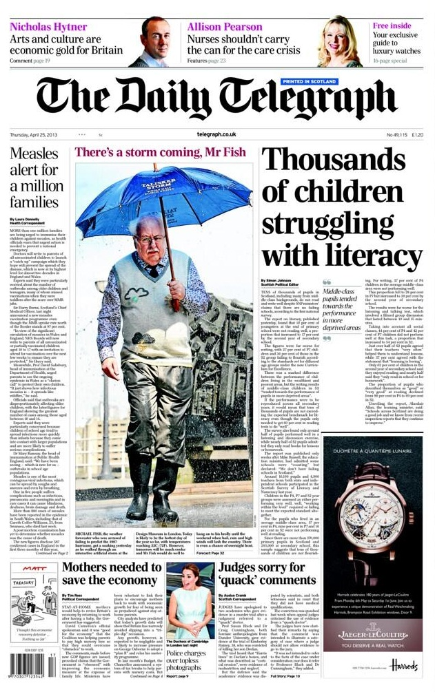talisker storm telegraph front page