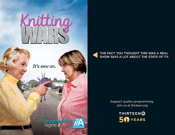 PBS mocks reality TV with cheeky print ad campaign