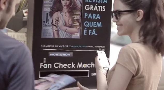 billboard magazine dispenser fan check magazine