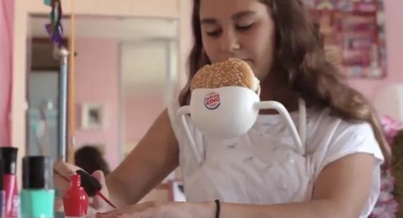Burger King creates hands-free Whopper holder