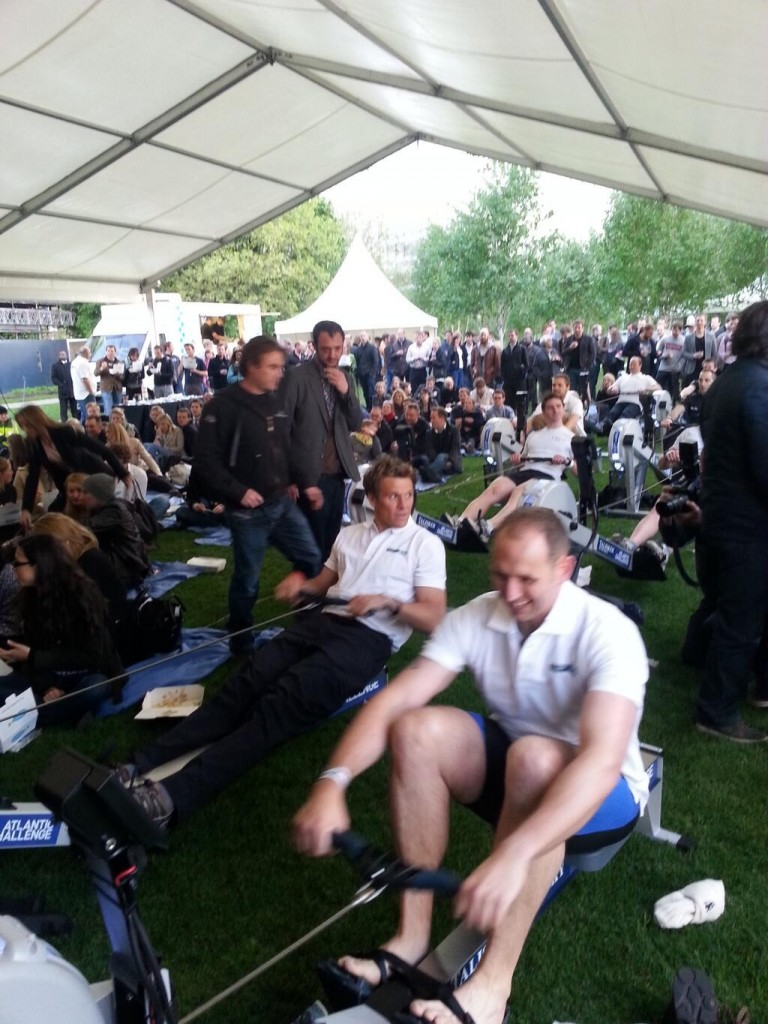 James Cracknell opens first ever rowing machine powered cinema