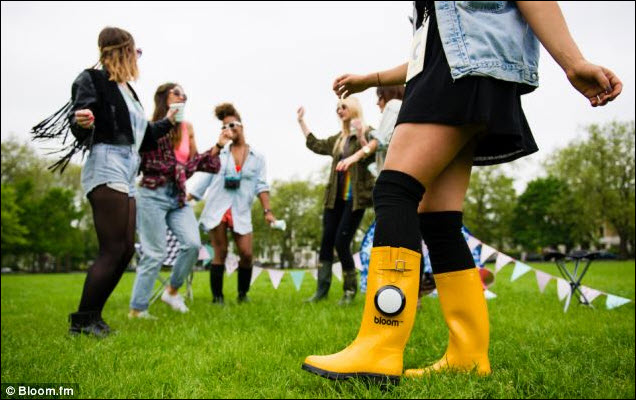 Is this what they meant by 'Bootylicious'?  – Wellington boots with bluetooth speaker launched for this year's festival season