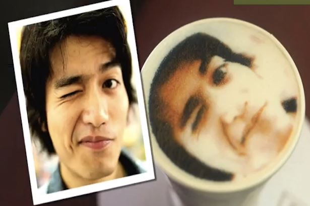 Your face on a latte