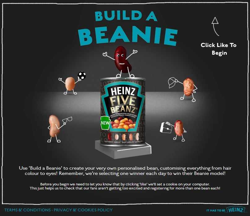 Heinz Five Beanz - Build a Beanie Facebook App