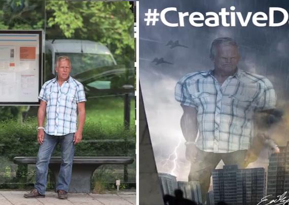 Adobe PR Stunt for #CreativeDays