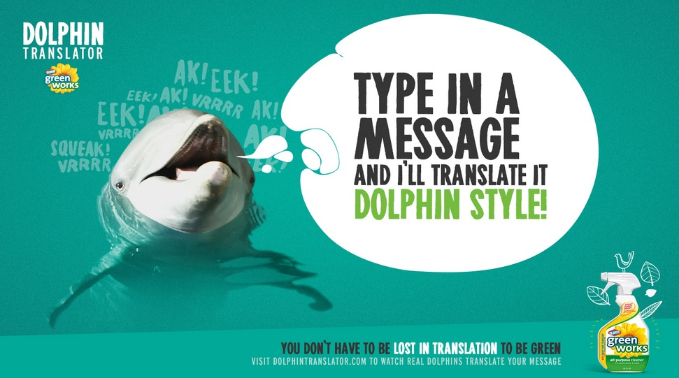 dolphin translator green works
