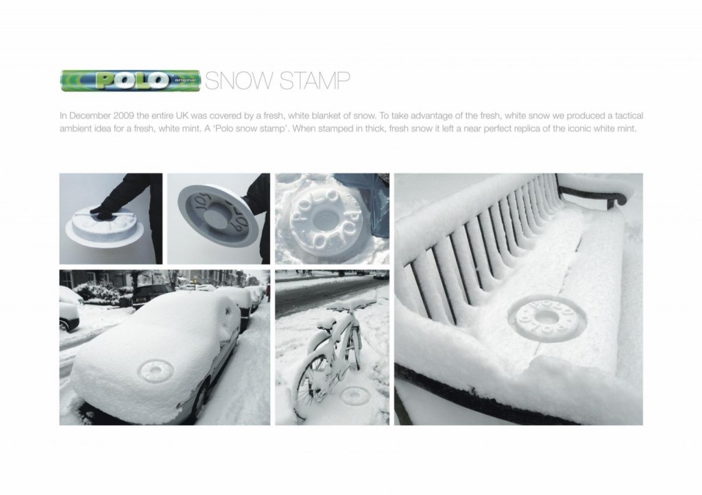 Polo Mints Snow Stamp